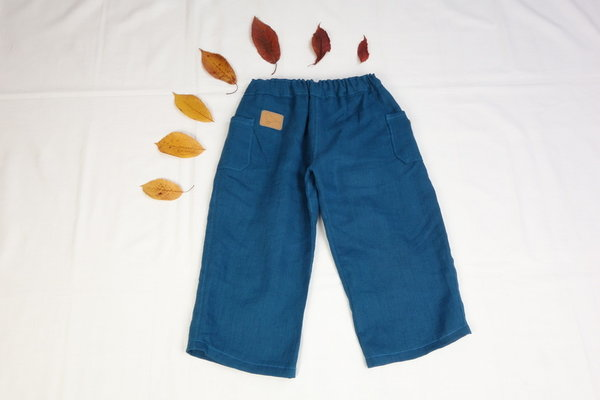 "3/4 Leinenhose ""Walnuss"""